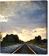 Follow The Tracks Canvas Print