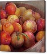 Food - Peaches - Farm Fresh Peaches  Canvas Print