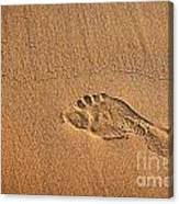 Foot Print Canvas Print