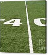 Football Field Forty Canvas Print