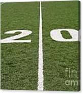 Football Field Twenty Canvas Print