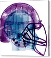 Football Helmet X-ray Canvas Print