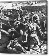 Football: Soldiers, 1865 Canvas Print