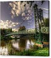 Footbridge Over The Severn  Canvas Print