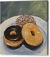 For The Love Of Krispy Kreme Canvas Print