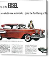 Ford Cars: Edsel, 1957 Canvas Print