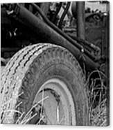 Ford Tractor Details In Black And White Canvas Print