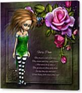Forest Fairy Jn The Rose Garden Canvas Print