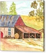 Forgotten Barn Postcard Canvas Print