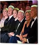 Former Presidents Bill Clinton Canvas Print