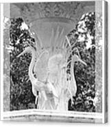 Forsyth Fountain - Black And White 4 Canvas Print
