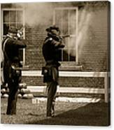 Fort Delaware Soldiers Canvas Print