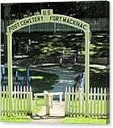 Fort Mackinac Post Cemetery Canvas Print