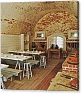 Fort Macon Mess Hall_9078_3765 Canvas Print