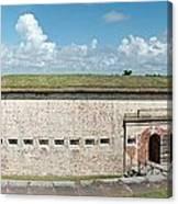 Fort Macon Panorama 1 Canvas Print