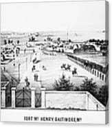 Fort Mchenry, 1862 Canvas Print