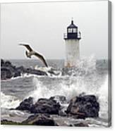 Fort Pickering Lighthouse Salem Ma Canvas Print