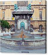 Fountain In Arles France Canvas Print