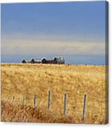 Four Outbuildings In The Field Canvas Print