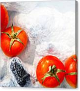 Four Red Tomatos  Canvas Print