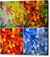 Four Seasons In Abstract Canvas Print