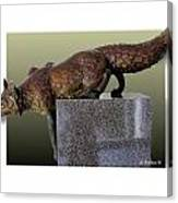 Fox On A Pedestal Canvas Print