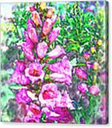 Foxglove Floral Canvas Print