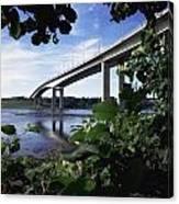 Foyle Bridge, Derry City, Co Canvas Print