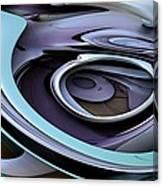 Fractal - Steel Canvas Print