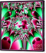 Fractal 12 Candycane Jester Canvas Print