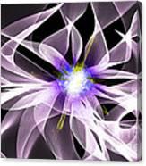 Fractal Flower . Dahlia Canvas Print