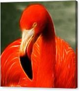 Fractalius Flamingo Canvas Print