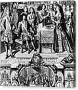 France: Baptism, 1704 Canvas Print