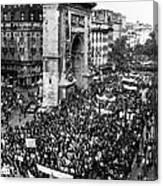 France: Strike, 1968 Canvas Print