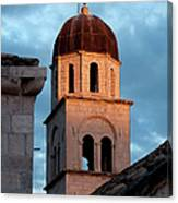 Franciscan Monastery Tower At Sunset Canvas Print