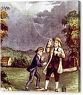 Franklins Experiment, June 1752 Canvas Print