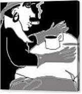 Frau Und Hund Canvas Print