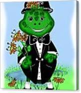 Freddie Frog Canvas Print