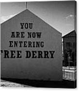 Free Derry Corner Northern Ireland Canvas Print