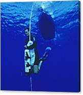 Free-diving Training Canvas Print
