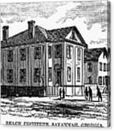 Freedmen School, 1868 Canvas Print