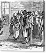 Freedmens Bureau, 1866 Canvas Print