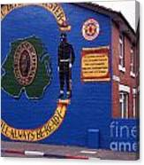 Freedom Corner Mural Belfast Northern Ireland Canvas Print