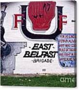 Freedom Corner Mural Belfast Canvas Print