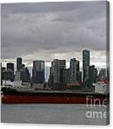 Freighter In Port Canvas Print