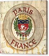 French Coat Of Arms Canvas Print