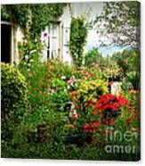 French Cottage Garden Canvas Print