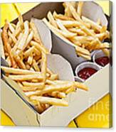 French Fries In Box Canvas Print
