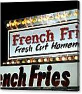 French Fries Sign Canvas Print