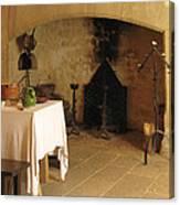 French Kitchen In Castelnaud Canvas Print